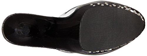 Pleaser Starburst-701, Sandales Plateau femme Noir - Nero (Clr/Blk)