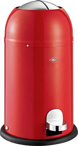 Wesco 180 312 Kickmaster Junior Abfallsammler 12 Liter rot 30 x 30 x 51cm (L/B/H), Edelstahl Rot 12
