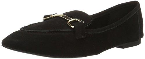 Buffalo London Damen 216-3547 Nubuck Slipper Schwarz (Black 01)
