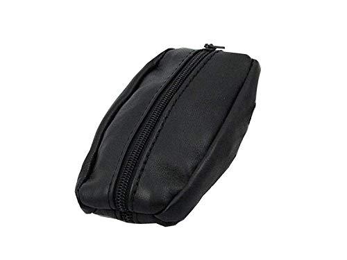Porte-Monnaie Homme - Grain de Café - Cuir véritable - Noir - Pour poches pantalon ou veste