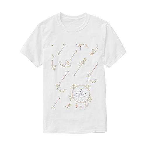 MONTOJ - Camiseta de Manga Corta Unisex con diseño de Flechas y atrapasueños - Multi - XX-Large