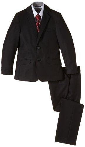 G.O.L. Jungen Bekleidungsset 4-tlg. Anzug, bestehend aus Sakko, Hose, Hemd, Krawatte, Gr. 140, Schwarz (black 2)