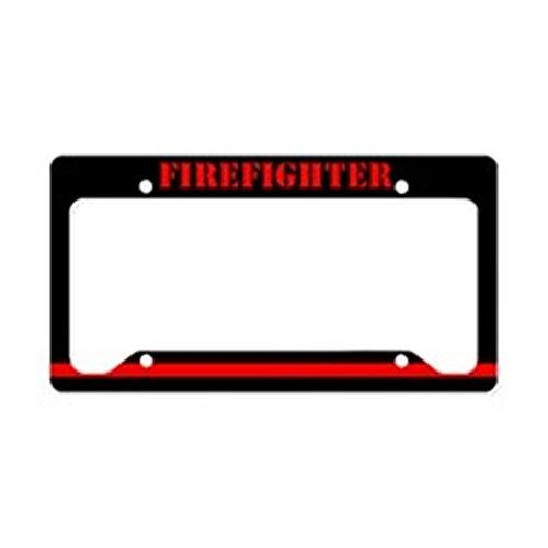 CafePress-Feuerwehrmann-- aluminium Nummernschild Rahmen, Lizenz Tag Halter