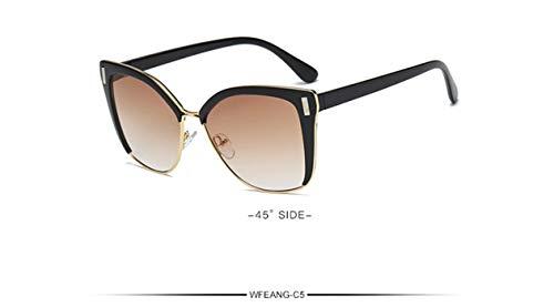 Daawqee Fashion Designer Cat Eye Sunglasses Women Tom Sun Glasses Big Size Cateye Vintage Oversize Female Gradient Points C5