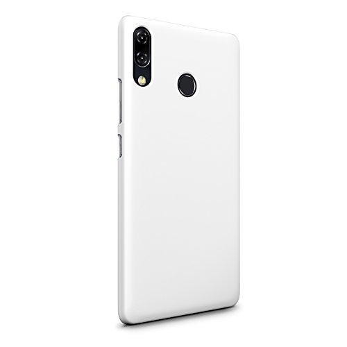 SLEO ASUS ZenFone 5 (2018) ZE620KL Hülle, Hart PC [Robuste Schutzhülle] Handyhülle Tasche Schlank Schale Hard Cover für ASUS ZenFone 5 (2018) ZE620KL Case - Weiß