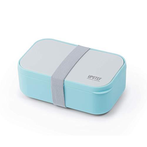 Malovi lunch box nero contenitore porta pranzo ermetico 2 scomparti con posate per contenitori alimentari box portatile no bpa (azzurro)