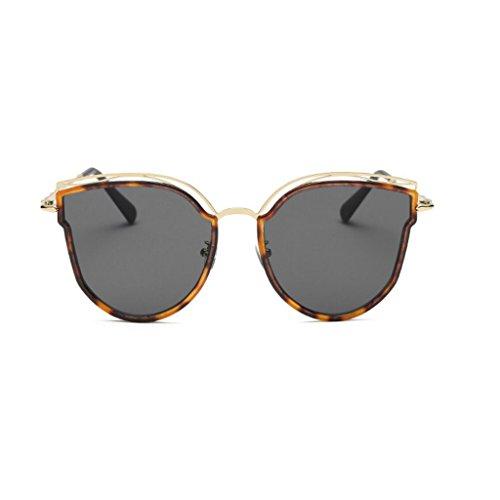 RLJJSH Sonnenbrillen Cat Eye Tone Classic Polarized Sonnenbrillen Slim 100% UV Protection 400 für Damen und Mädchen Sonnenbrillen Sonnenbrille (Farbe : Bean lace Gray, größe : One Size)