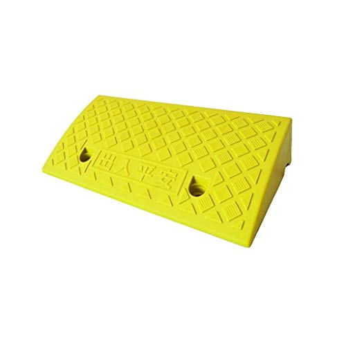 Draussen 5-13CM Plastikaufstiegsauflage, gelbe regensichere Innenrampen-Fahrrad-Roller-Kandare-Rampen-Bank-Krankenhaus-Rollstuhlrampen Bordsteinkanten ( Color : Yellow , Size : 50*22*5CM ) (Rampe Für Fahrräder Oder Roller)