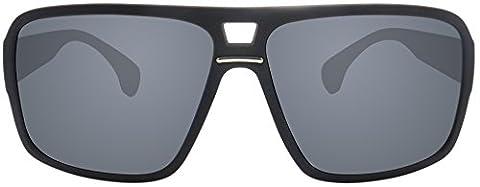 Original La Optica Verspiegelte UV400 Unisex Designer Sonnenbrille LO5 - Farben, Einzel-/Doppelpacks (Einzelpack Rubber Schwarz (POLARISIERTE Gläser: Grau))