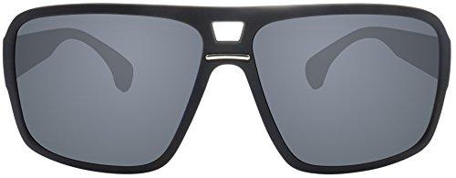 Originale La Optica UV400 Occhiali da Sole Uomo Specchiata Designer - Confezione Singola Gommata Nero (POLARIZZATE Lenti: Grigio)