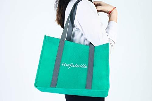 Wiederverwendbare Einkaufstaschen von usefulville - umweltfreundlich - 13 x 10 x 10 - Verwendung für Einkäufe - Ersatz für Papier oder Kunststoff - faltbar, leicht, niedlich und super stark