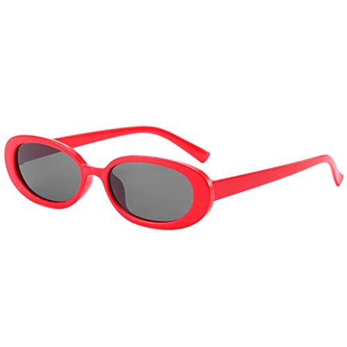 TTLOVE Unisex Fashion Small Frame Sunglasses Vintage Retro Irregular Shape Sun Glasses Sonnenbrillen FüR MäNner Und Frauen Kuhfarbe Leichte Bequeme (Mehrfarbig2)
