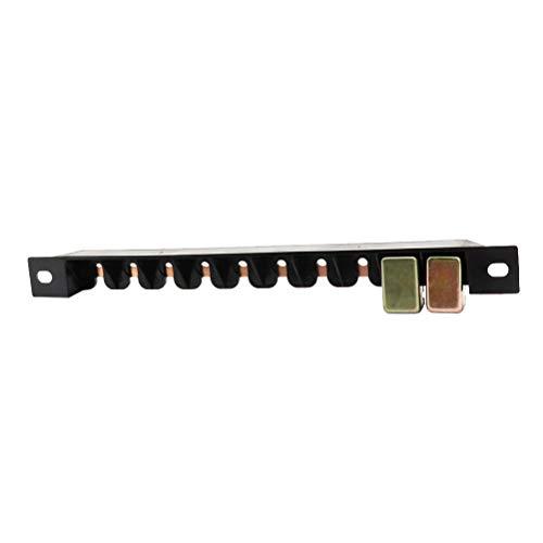 LIOOBO E5 10-Slot-Leistungsschalter-Bolzenhalterung Kupfersammelschienensatz für Lkw-Yacht RV Power System Schwarz Rv-power-systeme