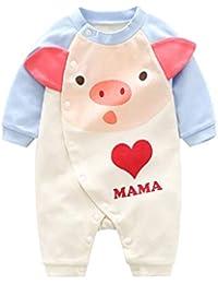Elecenty bambini Vestiti Carino Dolce Bambino Neonato Romper Body Tutina Abbigliamento  Set Outfit Tute da neonato 9c0e3111244