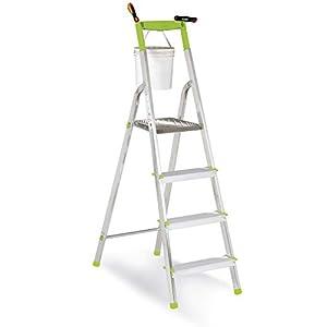 Casabriko – Escalera doméstica de Aluminio, Verde, Verde, 11034