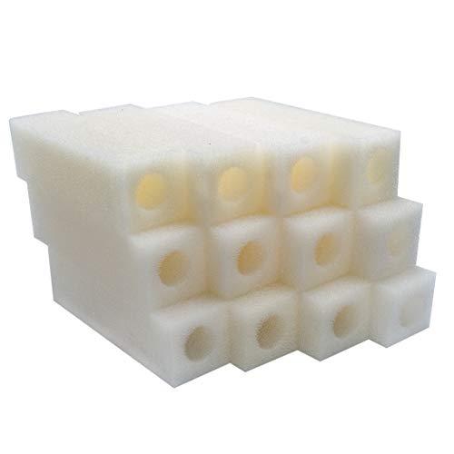 LTWHOME Filterschwamm Filterpatronen Passend für Eheim Pick up 2012 (12 Stück)