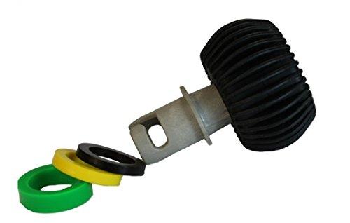 Druckmesser m. universellem Adapterteil 0,5 bar