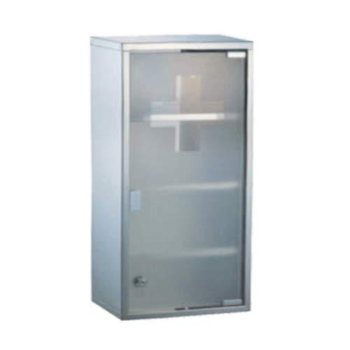 Armoire à pharmacie en acier inoxydable avec 4 compartiments 60 x 30 x 12 cm Argenté