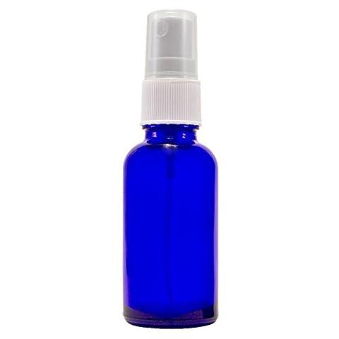 1 oz Cobalt Blue Boston Round Glass Bottle with Fine
