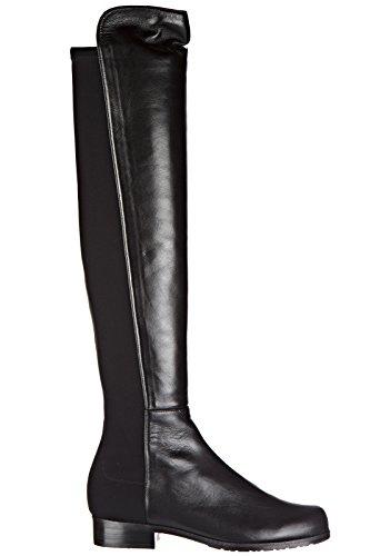 Stuart Weitzman stivali donna in pelle originale nero EU 38.5 5050