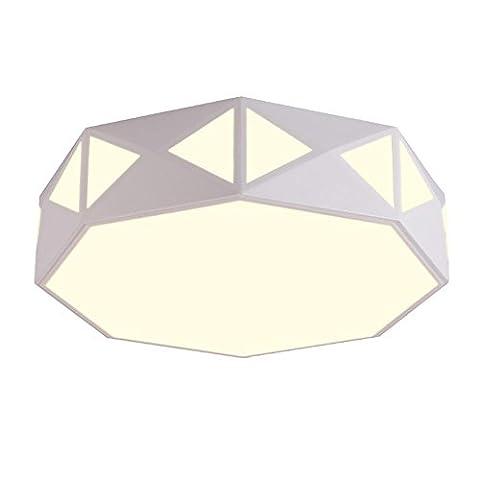Modern Geometrie Stufenloses Dimmen Eisen Wohnzimmer Flush Mount LED Weiß Romantisch Kreativ Schlafzimmer Deckenleuchte Kronleuchter studieren