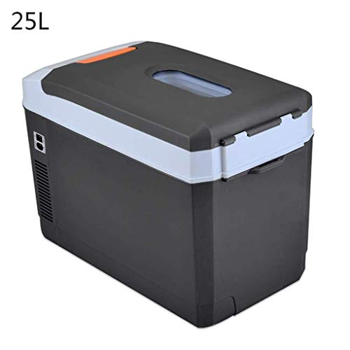 Kievy 25 Liter Elektrisch Kühlbox Tragbarer Thermo-Elektrische Kühlbox Kompaktes Warmhalten Und Kühlen Für Auto Zuhause Büro Picknick Im Freien