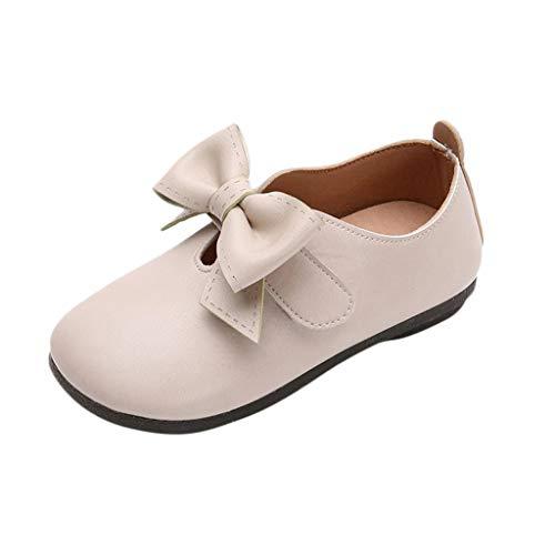 Mitlfuny Niños Zapatos de Cuero Primavera Verano Arco Fiesta Princesa Zapato para bebé Niñas Antideslizantes...