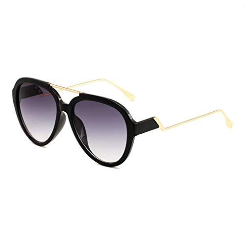 EYEphd Übergroße Pilotenbrille in Bonbonfarbe in transparenten Tönen in transparenten Promi-Tönen Brity Shades Britwear mit Etui, 100% UV-Schutz für Freizeit/Urlaub,BlackFrame