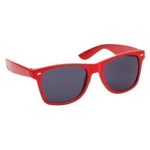 1b4d2695107edc Unisexe lunettes de soleil style Wayfarer avec filtration solaire UV400  classique style Geek rétro - Rouge