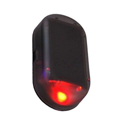 Alarma ficticia simulada solar del coche Advertencia luz de seguridad destelleante del Anti-Ladrón LED (Color rojo)