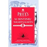 Prices Sentinel NightLights, 8 Hour Burn Time, Pack of 50, White