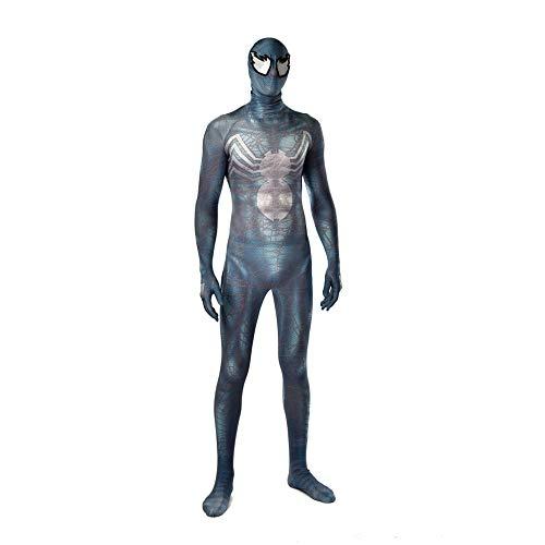 DSFGHE Venom Spider-Man EIN Stück Cosplay Kostüm Trikot Maskerade Halloween Lycra Filmrequisiten Kostüm,Blue-Child(S)