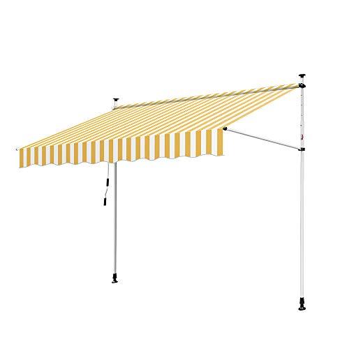 Hengda Toldo articulado con armazón 400 * 120cm Toldo Extensible Enrollable terraza...