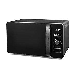 Tower T24021BS Glitz 20 Litre Digital Microwave, Glass Turntable, 6 Power Settings, 800 W, Black