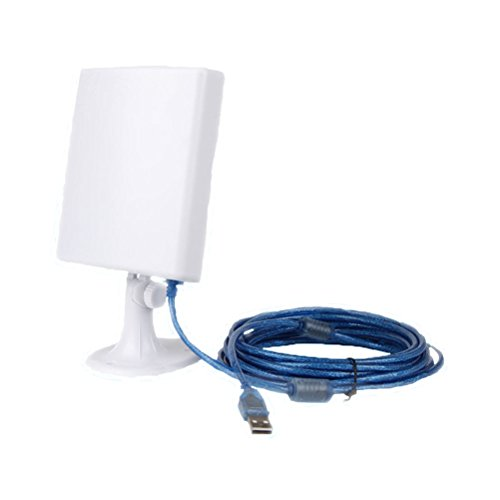 PIXNOR USB Wifi Antenne lange Reihe USB powered Wireless Booster Verstärker mit 5m Kabel für WindowsXP/Vista/7 -