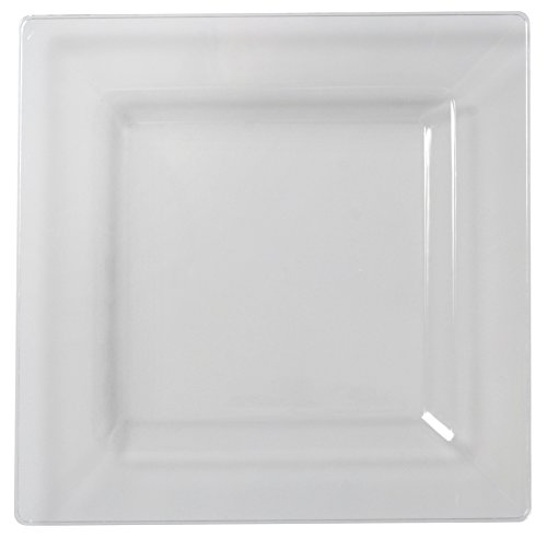 Solid Squares 1610-CL Square Dinner Plate, 10.75 x 10.75