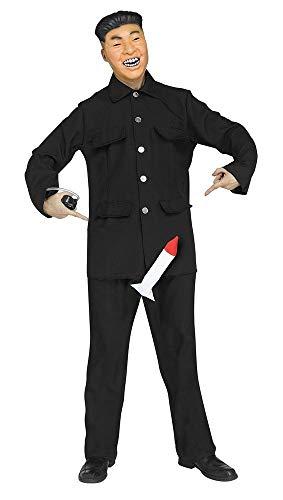 shoperama Rocket Man - Gr. M/L - Lustiges Herren Kostüm mit Pumpe und Maske Koreaner Kim Jong-un Politiker JAG