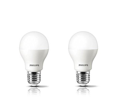 Philips Base E27 7-Watt LED bulb (Cool Day Light,Pack of 2)