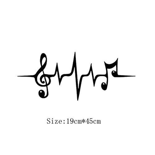 Provide The Best Nota Pared Pegatinas Cartel música
