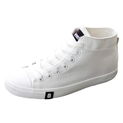 YIWU High Top Canvas Schuhe Für Frauen Herbst Schuhe Passen Koreanische Art Kleine Weiße Schuhe Frühjahr 2018 Sneaker (Farbe : White, Size : EU39/UK6/CN39) - Beliebten Sneakers