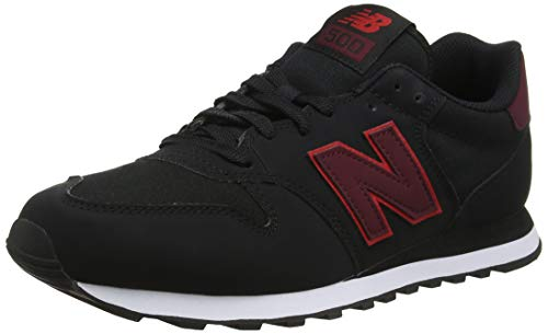 new products f4101 c0d5e New Balance 500, Scarpe Sportive Uomo, Nero (Black Nb Burgundy Team