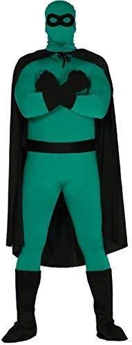 Fancy Me Erwachsene Herren Damen Rot Schwarz Super Hero Umhang Maske Stiefel Handschuhe Tv Buch Film Comic Kostüm Kleid Outfit Satz - Schwarz, one Size