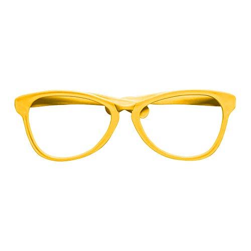 brille, Unisex- Erwachsene, Gelb, Taglia unica ()