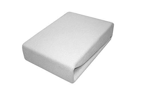 Soft Dream Bettlaken Spannbettlaken 80/160 80x160 Baumwolle Jersey 100% aus Polen (Grau, 80 x 160 cm)