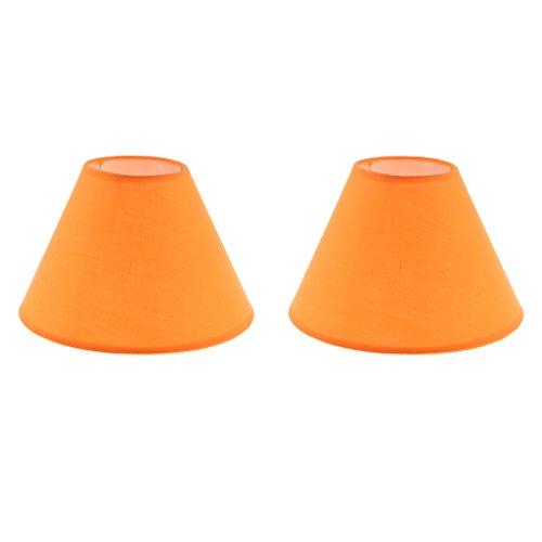 Unbekannt E27 Lampenschirm für Tischlampe/Stehlampe, 2er / Set - Orange