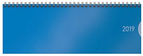 Classic Colourlux blau Blackline, 64 Seiten 304819 2019: Bürokalender I 1 Woche 1 Seite I nützliche Zusatzinformationen I Format: 29,8 x 10,5 cm