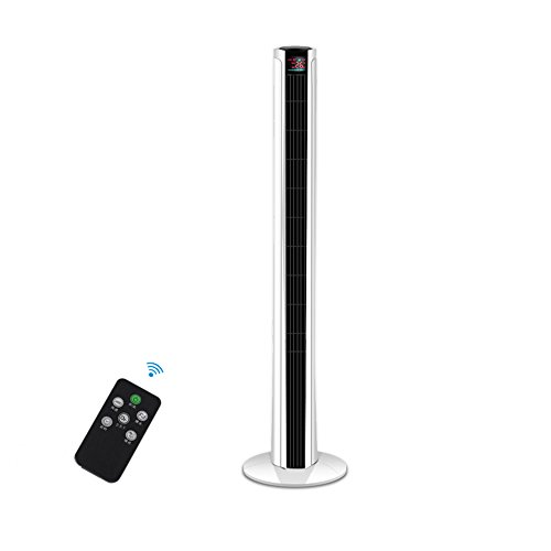 YANHONG Ventilador eléctrico de Control Remoto Torre de la Torre Ventilador sin...