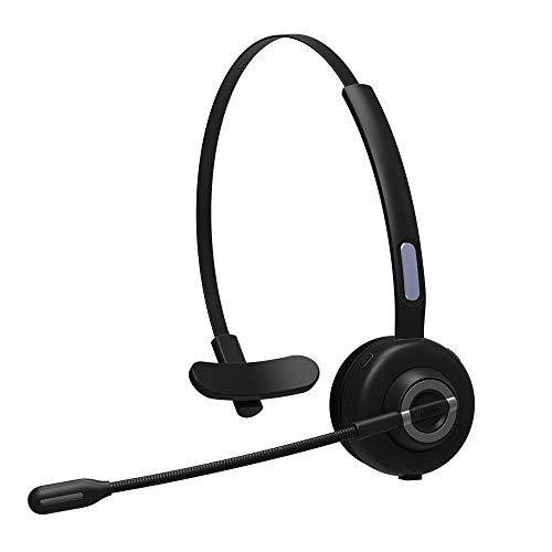 ZJH Telefon-Headset, einohriges drahtloses Telefon-Headset mit Bluetooth 5.0, für Bürotelefone, für Telefonverkauf, Versicherung, Krankenhäuser, Telekommunikationsbetreiber