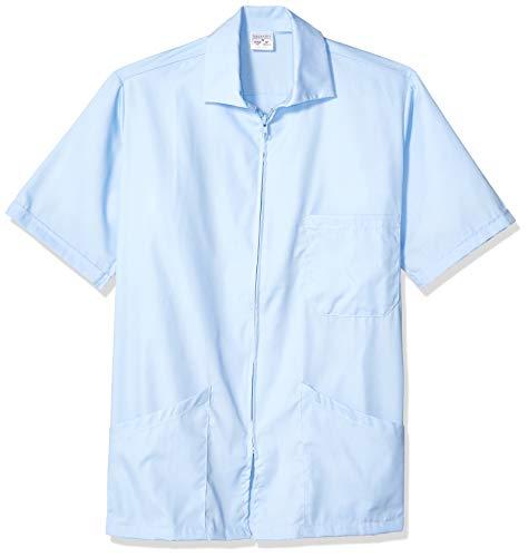 Fashion Seal Healthcare Erwachsene Unisex Zip Front Lab Shirt A Krankenhauskleidung, azurblau, XXX-Large - Zip-front-lab