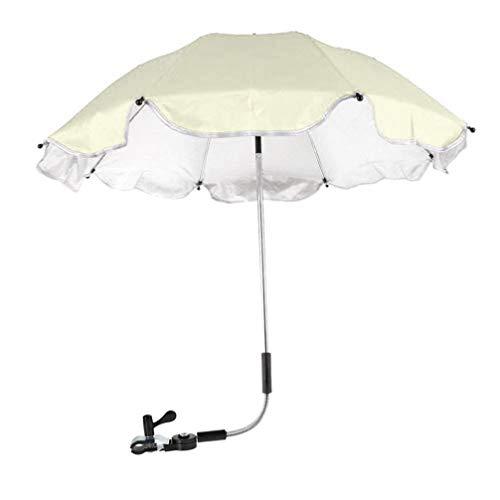 Igemy Kinderwagen Abdeckung Sonnenschirm für Sun Regen UV Strahlen Schutz Outdoor Regenschirm (Beige)